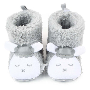 Baby Lamb Fleece Booties 0-18M - StrawberryDaze