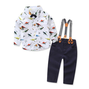 Formal Clothing Fashion Sets For Boys 2PCS Suit with Suspenders - StrawberryDaze