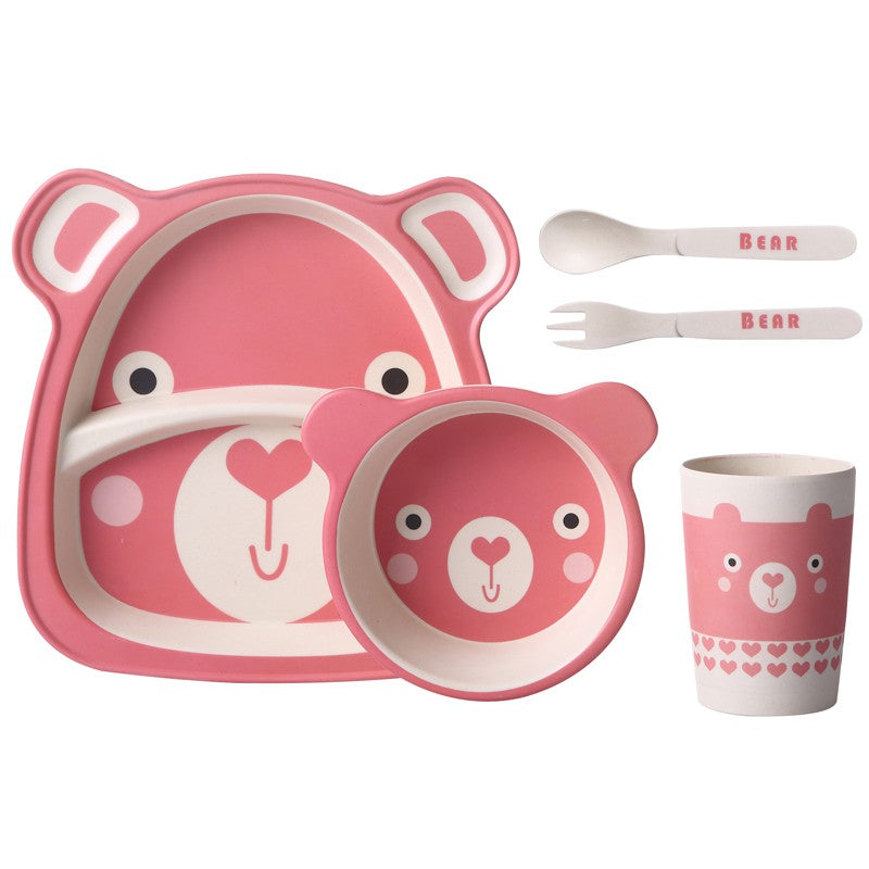 Dinnerware With Compartments 5pc Tableware Set - StrawberryDaze