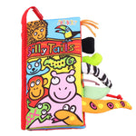 Fluffy Tails Baby Cloth Book Infant Early Development Toy - StrawberryDaze