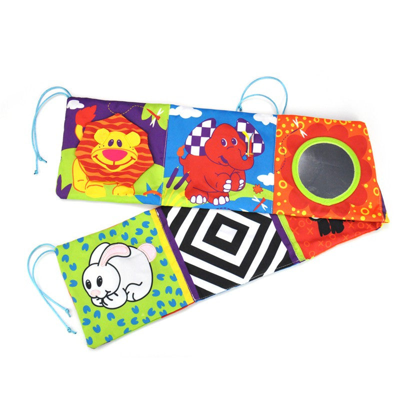 Baby Early Education Toys Colorful Crib Bumper Activity & Cloth Book