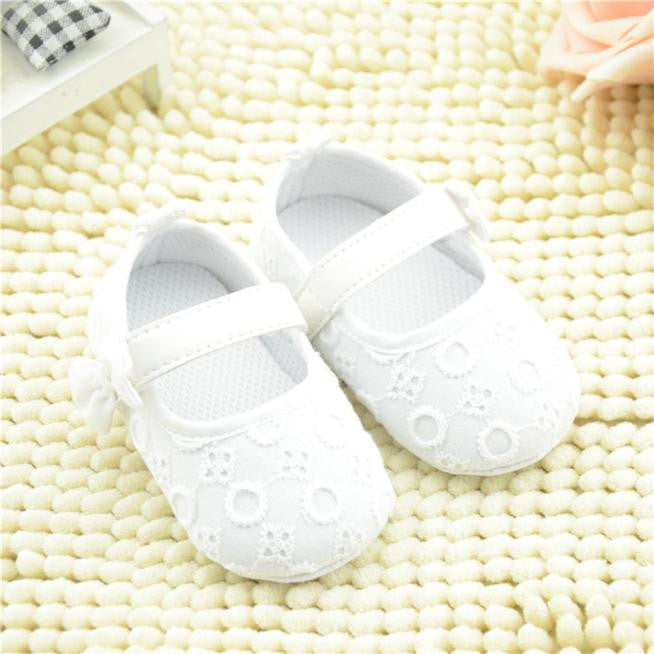 Baby Embroidered Shoes Bowknot Toddler Soft Sole Shoes - StrawberryDaze