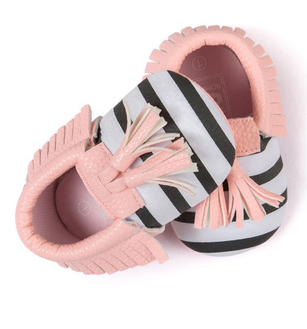 Baby Crib Tassels Bow-knot Shoes - StrawberryDaze