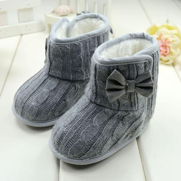 Baby Bowknot Soft Sole Winter Warm Shoes Boots - StrawberryDaze