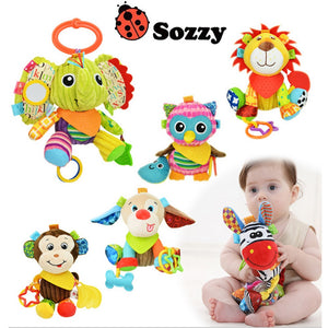 Multi Function Rattle For Hanging Crib, Stroller or Play - StrawberryDaze