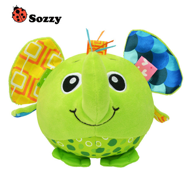 SOZZY Baby Soft Stuffed Plush Animal Bell Rattles - Early Education Developmental toy