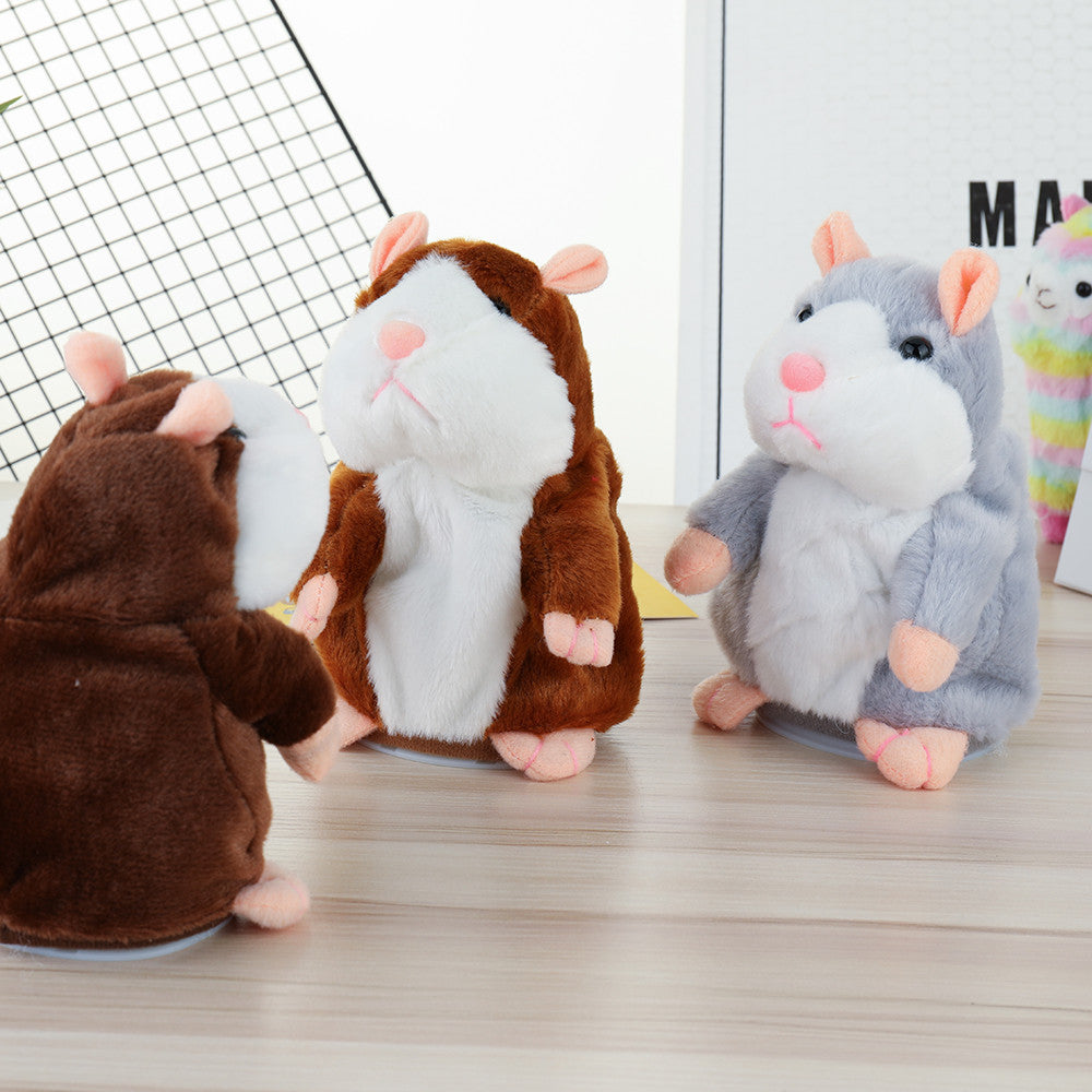 Record & Repeat Stuffed Electric Smart Little Talking Hamster - StrawberryDaze