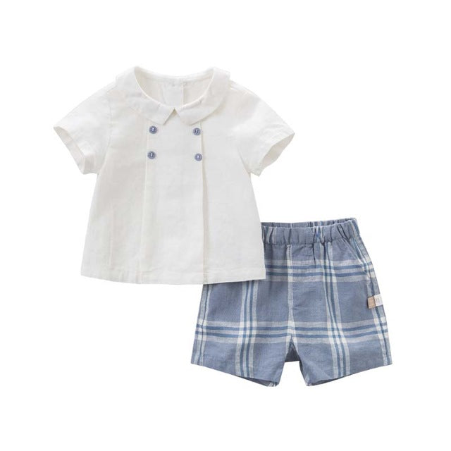 Summer Baby Fashion Suits For Boys High Quality 2pc sets
