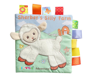 Cute Cloth Crinkly Animal Embroidery Educational Toy Bright Color Soft Book - StrawberryDaze