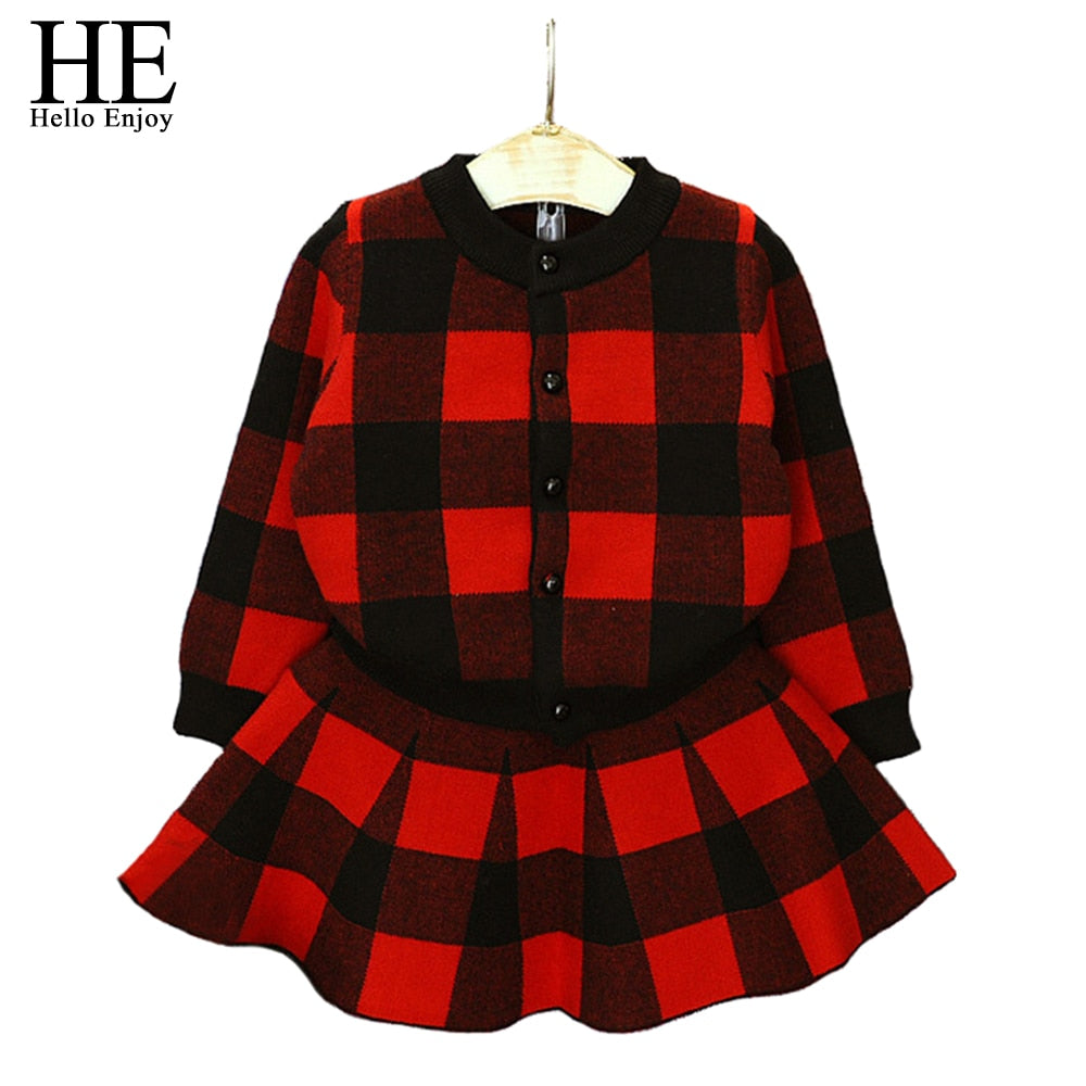 Plaid Jacket Fashion Top & Skirt Dress 2pcs - StrawberryDaze