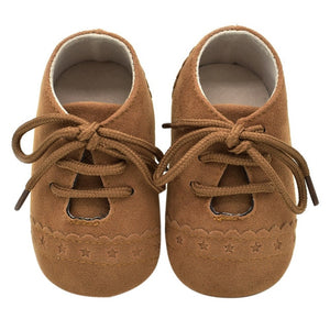 Soft Nubuck Leather Moccasins Anti-slip Shoes For Girl or Boy 0-18M - StrawberryDaze