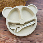 Panda Dinnerware Dishes For Baby: Healthy Portions Set - StrawberryDaze