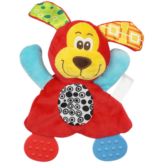 Newborn / Baby Plush Teether & Hand Rattle Toy