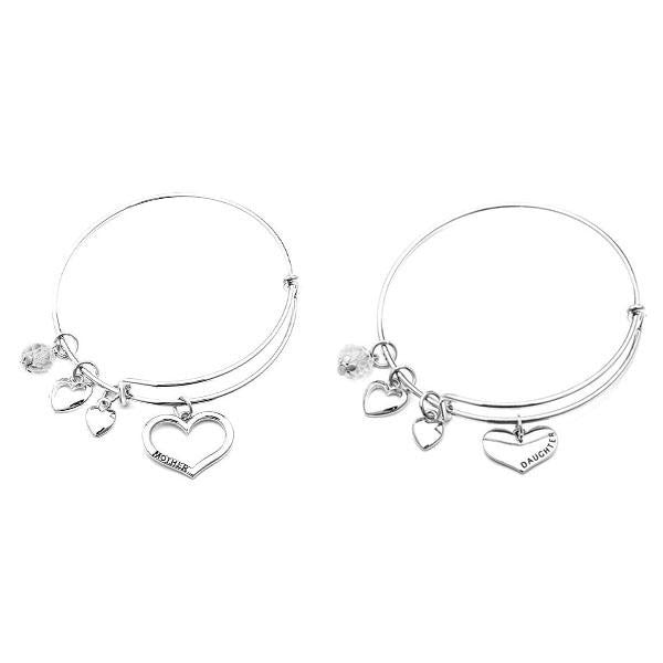 Mother Daughter Charm Bangle Set - StrawberryDaze