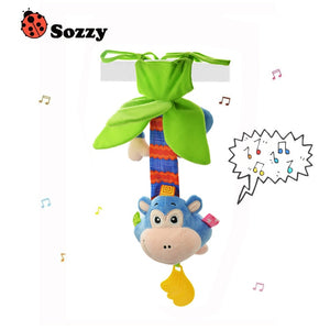 Baby Rattle with Melody Wind Up Music Box | Toy For Crib Stroller - StrawberryDaze