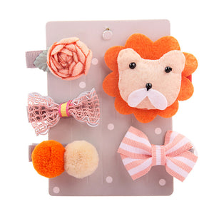 Baby Girl Assorted Hair Clip Set 5Pcs