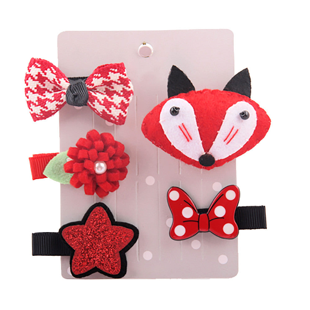 Baby Girl Assorted Hair Clip Set 5Pcs - StrawberryDaze