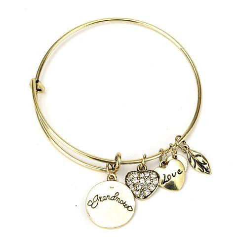 Grandma Love Charm Bangle - StrawberryDaze