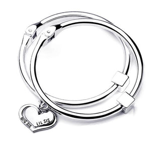 Big Sis Lil Sis Charm Bangle Set - StrawberryDaze