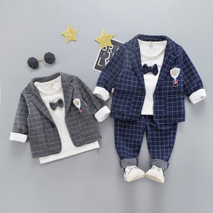 Boys Fashion Bow Tie Suit 3 Piece Set - StrawberryDaze