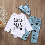 """Little Man"" Infant Baby Boy Romper"