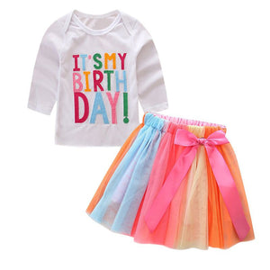 Fun Birthday Set For Girls 2T - 7Yrs - StrawberryDaze