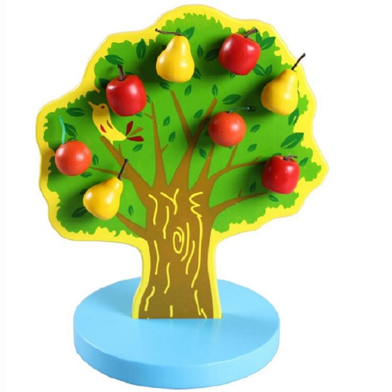 Magnetic Apple Pear Tree Toys for Counting