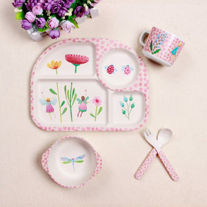 Baby Tray-Like Dinnerware 5Pc Set - StrawberryDaze