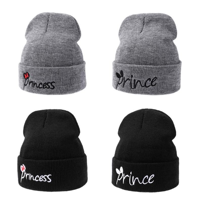Kids Knitted Winter Warm Solid Color Hat Embroidery Letters Beanie - StrawberryDaze