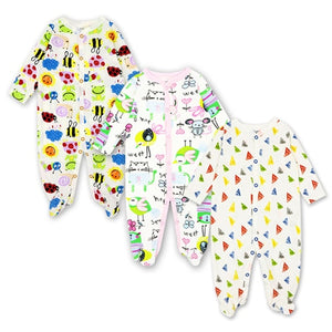 3Pcs 100% Cotton Rompers