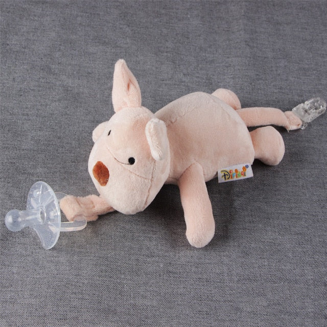Pacifier Chain Clip Plush Animal Toys (does not include Pacifier)