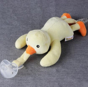 Animal Plush Detachable Pacifier Holder