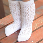 Girl Fishnet Stockings Non-Slip Knee High Lace Thin 0-4T