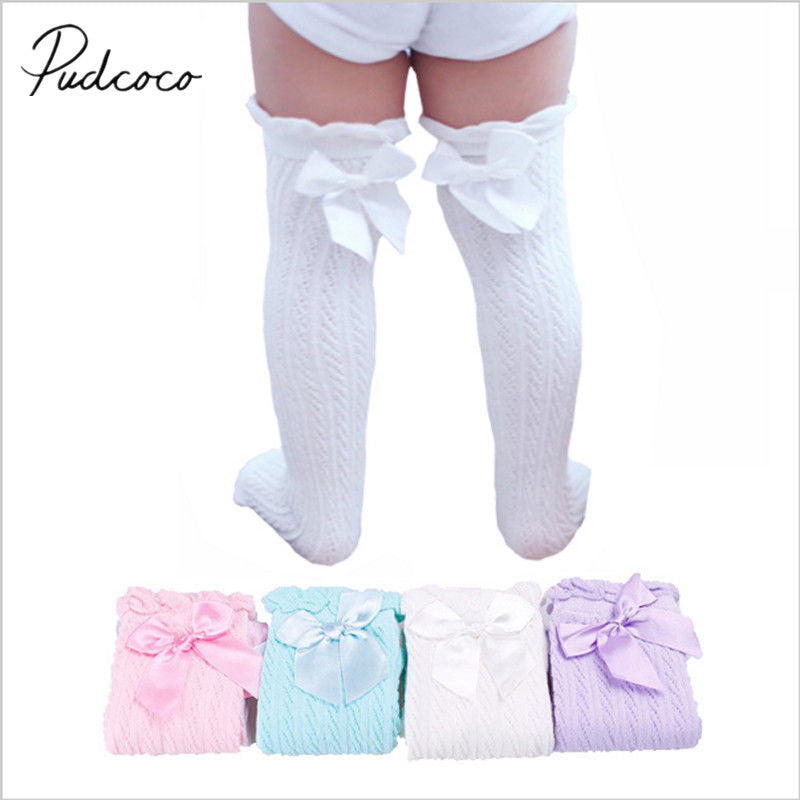Girl Knee-High Bowknot Stocking