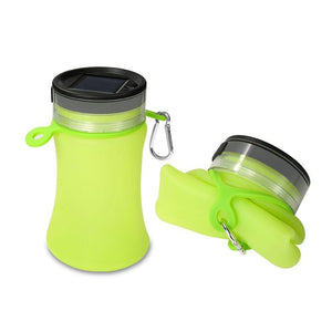 Solar Camping Water Bottle LED Light - Rechargeable