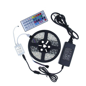 5050 RGB LED Strip Light Kit - Color Changing LED Tape Light - 12V - Waterproof - 5M/16ft