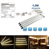 Under Cabinet Lighting Kit - 4 Strips Warm White - 12V