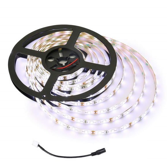 5050 LED Strip Light - Pure White LED Tape Light - 12V - 5M/16ft