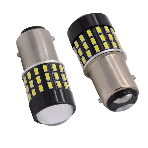 1157 (BAY15D) LED Bulb - 54 SMD LED with Lens (2 pack)