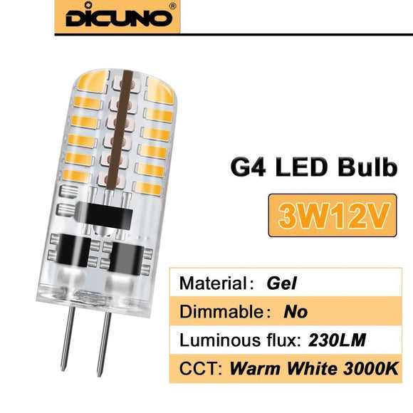 G4 LED Bulbs - 230 Lumen - 12V DC (2 Pack)
