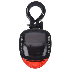 Solar Power Bicycle LED Rear Red Lamp