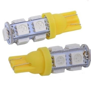 Amber 194, 168, T10 LED Bulbs - 9 SMD (2 Pack)