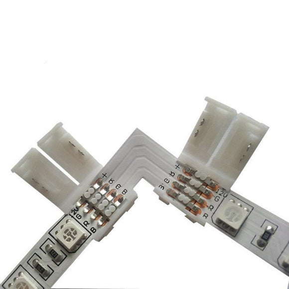 2 Piece RGB 5050 LED Light Strip Corner Connector