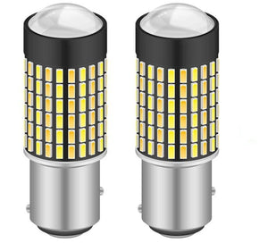 1157 Switchback LED Bulb - Dual Function White/Amber - 120 SMD (2 Pack)