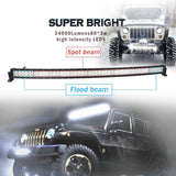 "42"" Curved LED Light Bar with Wire Harness - 240W - 24,000 Lumen"
