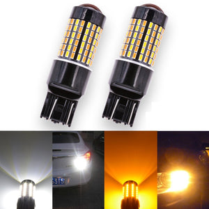 7443 Switchback LED Bulb - Dual Function White/Amber - 120 SMD (2 Pack)