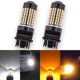 3157 Switchback LED Bulb - Dual Function White/Amber - 120 SMD (2 Pack)