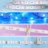 16ft RGB LED Light Strip Kit - Non-Waterproof - Remote or App Control