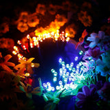 Mini Multicolor LED Solar Powered String Light - 200 LED - 72ft