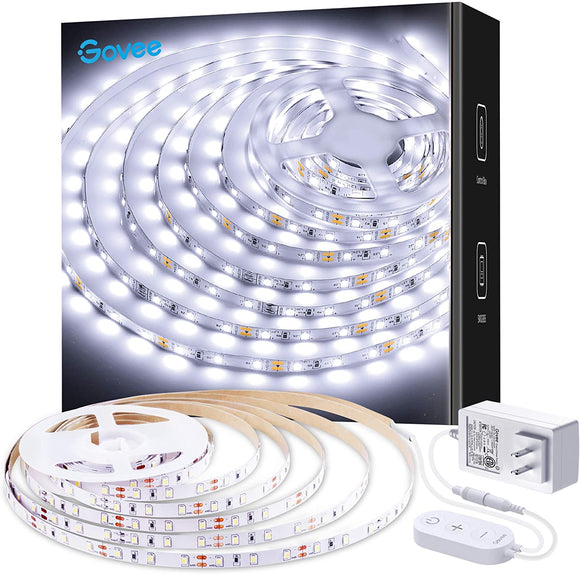 16ft Cool White LED Strip Light Kit - Non-Waterproof -  Dimmable